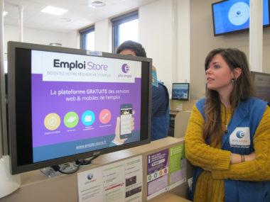 La numérisation des services toujours au cœur de la stratégie de Pôle emploi en 2019. © Séverine Cattiaux - Place Gre'net