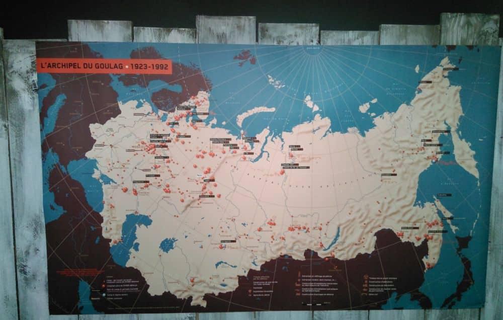 La carte des goulags exposée au Musée de la Résistance © Florent Mathieu - Place Gre'net