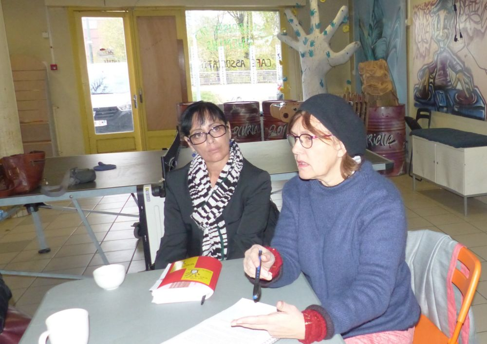 Rdija Sahiri (à gauche) et Patricia Ospelt © Florent Mathieu - Place Gre'net