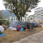 FIL INFO Campement de migrants du parc Henri Tarze, quartier Jean Macé à Grenoble, dimanche 27 octobre © Séverine Cattiaux - Place Gre'net