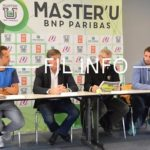 Conférence de presse de présentation du Master'U, tournoi international de tennis universitaire à Seyssins, 31 octobre 2018.