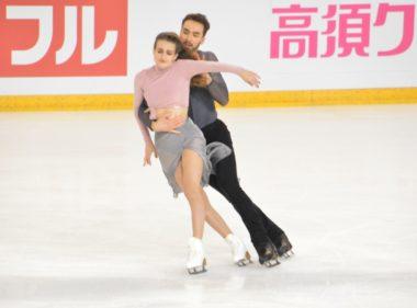 Gabriella Papadakis et Guillaume Cizeron lors de leur programme libre samedi 24 novembre. © Laurent Genin