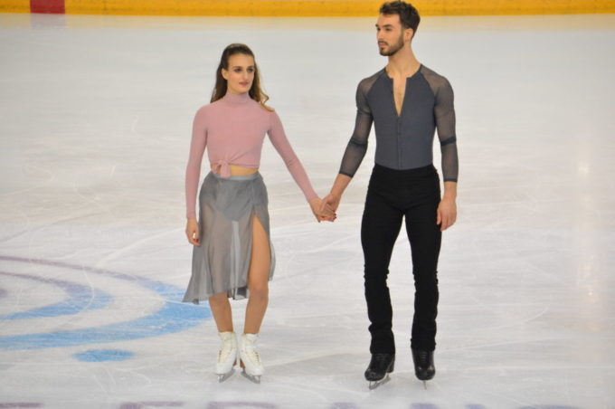 Les vice-champions olympiques de danse sur glace Gabriella Papadakis et Guillaume Cizeron ont brillé à Vaujany. © Laurent Genin