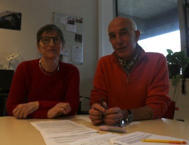 Bernadette Richard-Finot et Guy Tuscher du groupe Ensemble à gauche - Novembre 2018