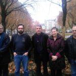De gauche à droite : Pierre-Jean Crespeau, Jérémy Giono, Laurent Jadeau, Floriane Benoit et Serge Benito © Florent Mathieu - Place Gre'net