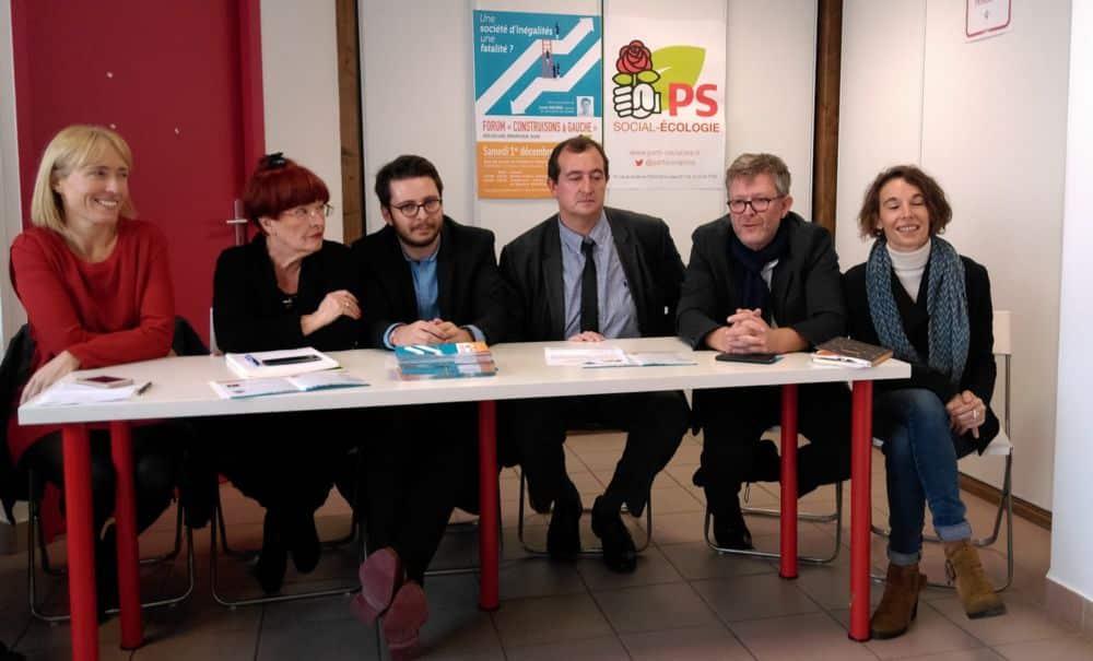De gauche à droite : Hélène Vincent, Gisèle Pérez, Maxence Alloto, Christophe Bouvier, Jean-Loup Macé, Amandine Germain © Florent Mathieu - Place Gre'net