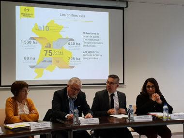 Présentation du schéma directeur des espaces économiques métropolitain avec Françoise Cloteau, Guy Jullien, Christophe Ferrari, Marie-Josée Salat DR
