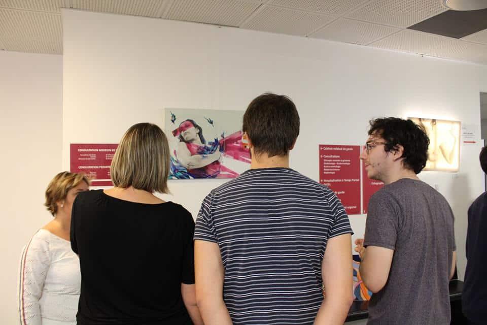 Les créations du Projet Vénus avaient déjà fait l'objet d'une exposition à la Clinique mutualiste de Grenoble dans le cadre d'Octobre Rose © Sacha Magnani - Place Gre'net