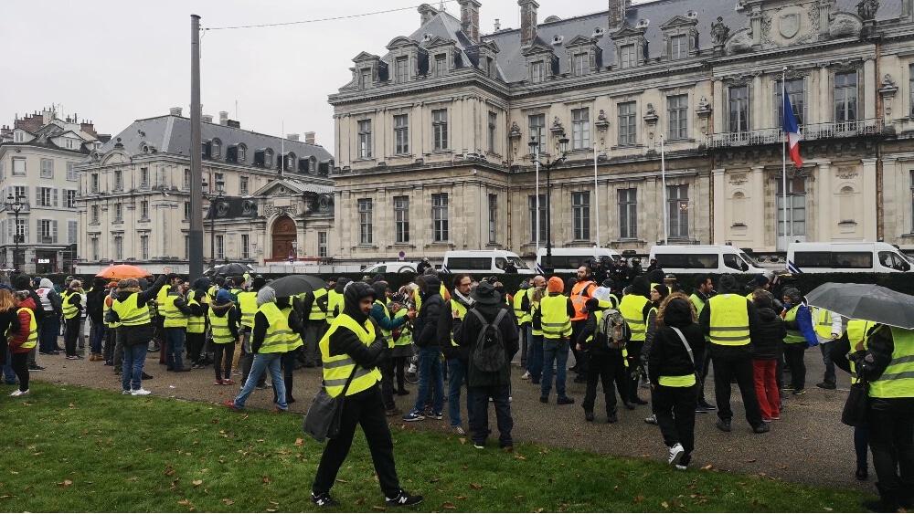 Solidaires Isère appelle à la convergence avec les actions des Gilets jaunes. © Joël Kermabon - Place Gre'net