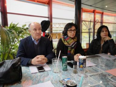 De gauche à droite : Adrien Fodil, Dominique Spini et Sharah Bentaled. © Joël Kermabon - Place Gre'net