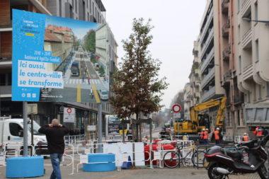Travaux dans le centre-ville de Grenoble à l'approche des fêtes de Noël - novembre 2018