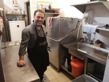 Jean-Jacques Incardona du restaurant La Côtelette a fait partie des professionnels impliqués dans l'expérimentation © Joël Kermabon - Place Gre'net