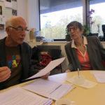 Guy Tuscher et Bernadette Richard-Finot, conseillers municipaux de l'opposition du groupe Ensemble à Gauche, samedi 3 novembre 2018 © Séverine Cattiaux - Place Gre'net