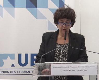"""Alors que la ministre Frédérique Vidal assistait au lancement du Deeptech tour, à l'UGA, dehors des étudiants manifestaient pour les """"sans-fac""""."""