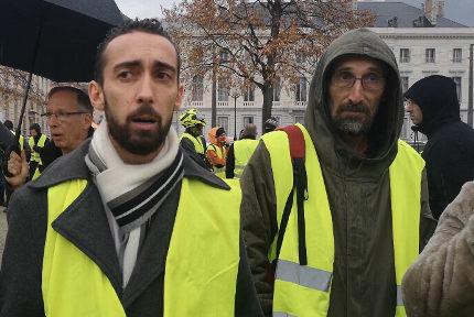 """Julien Terrier, leader des """"gilets jaunes"""" de l'agglomération grenobloise. © Joël Kermabon - Place Gre'net"""