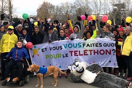Les 5 km du Téléthon de l'Office municipal des sports (OMS) de Grenoble 2017. © OMS
