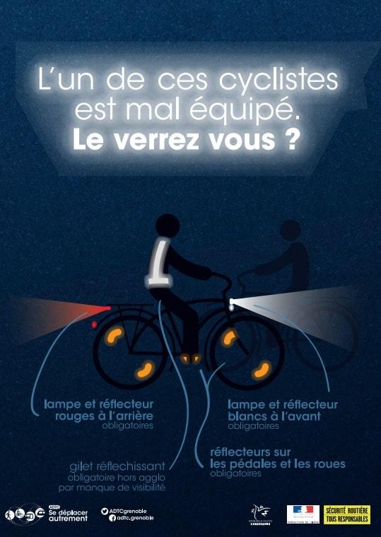 Affiche de l'opération « Cyclistes, brillez ! »