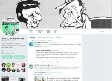 """Le site du collectif Le vélo qui marche hébergé sur le serveur du site de Carignon, révèlation du tweetos """"Alain C ex maire de Gre"""""""