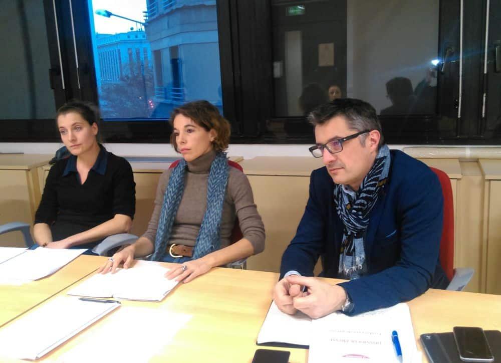 L'opposition du Département veut un nouveau plan vélo. Les élus socialistes du Département de l'Isère © Florent Mathieu - Place Gre'net