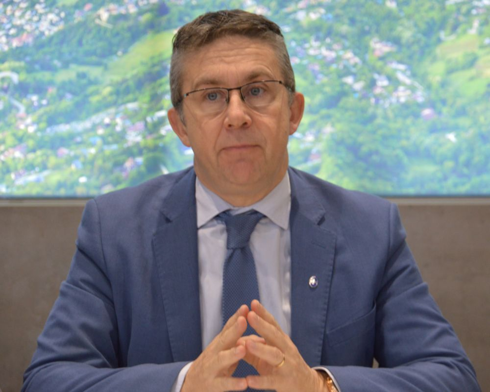Christophe Ferrari, maire de Pont-de-Claix et président de Grenoble-Alpes Métropole. © Laurent Genin