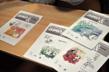 Maquettes préparatoires de l'exposition à venir au printemps. © Lycée Vaucanson