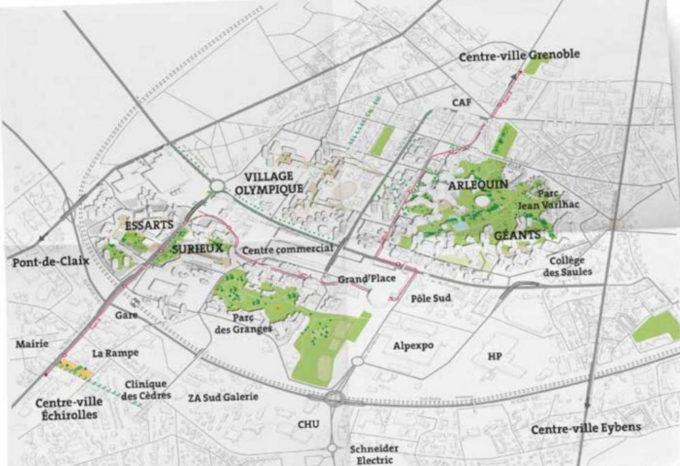 Espace du projet d'aménagement de la centralité sud DR