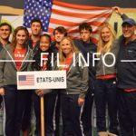 Vainqueurs de la Grande-Bretagne en finale, les Etats-Unis se sont imposés lors du 13e Master'U BNP Paribas à Seyssins le 2 décembre 2018. © Laurent Genin