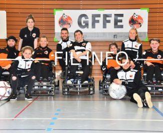 Grâce à sa campagne de financement participatif, le Galactique foot-fauteuil électrique avait déjà obtenu 1 905 euros le 29 décembre 2018.L'équipe du GFFE recevra une manche du championnat de France de troisième division les 6 et 7 avril 2019. © Julien Diaferia