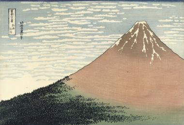 Le Fuji rouge dans une embellie, Hokusai (Vers 1829-1833) © École française d'Extrême-Orient, Paris