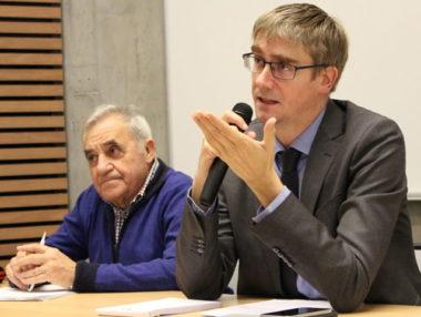 Olivier Noblecourt le 10 décembre pour une conférence à Science-Po Grenoble. © Jules Peyron - placegrenet.fr