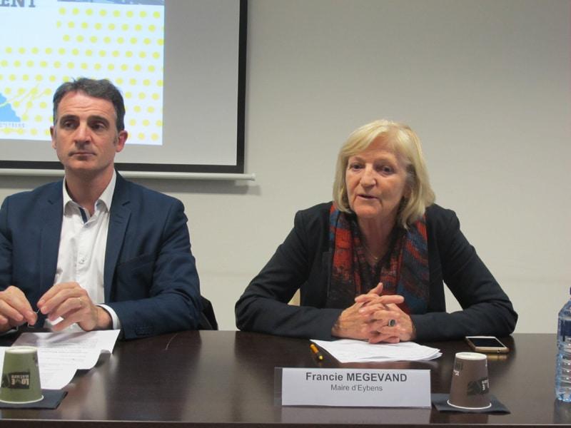 Francie Mégevand aux côtés du maire de Grenoble Éric Piolle © Séverine Cattiaux - Place Gre'net