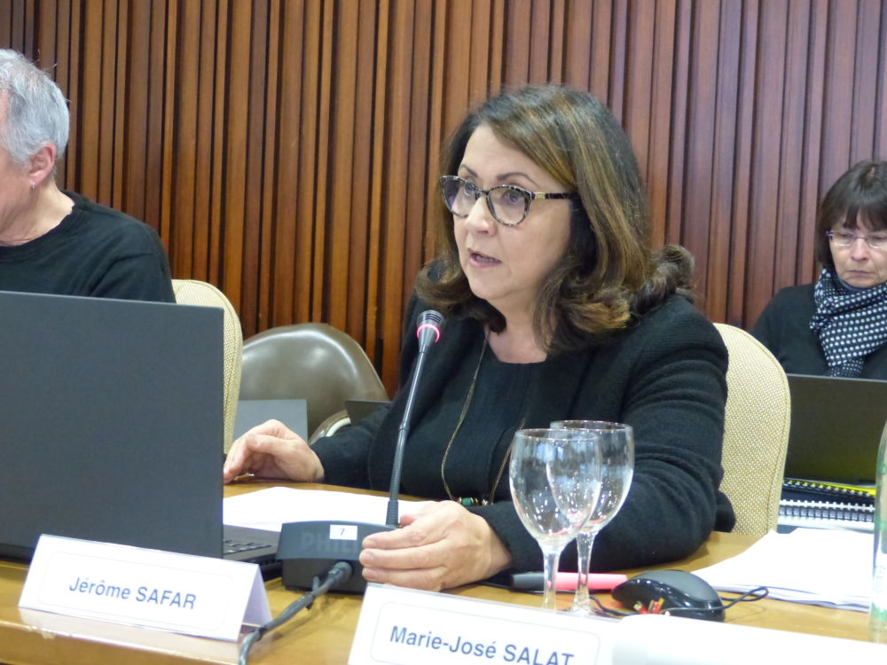 Marie-José Salat déplore la mise à l'écart de l'opposition © Place Gre'net