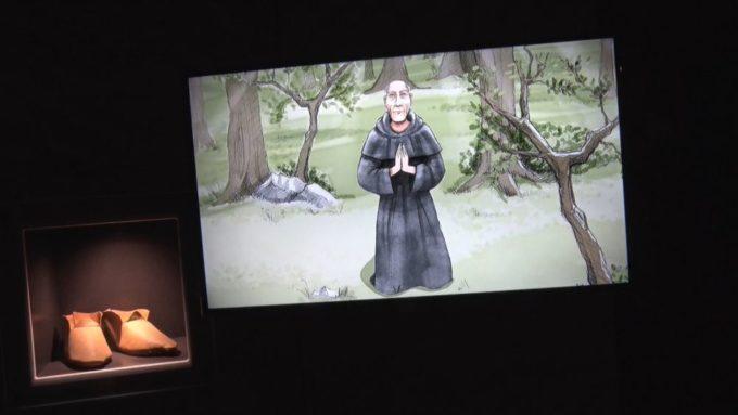 Une des séquences de la vidéo retraçant la vie du prieur. © Joël Kermabon - Place Gre'net
