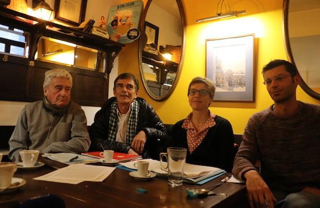 Quatre Grenoblois, Jean Jonot, Serge Bouyssi, Christine Bollaert et Xavier Bodin (de gauche à droite) ont en septembre dernier déposé un recours visant à l'annulation du projet de réaménagement de l'A480. D'ici la fin de l'année, un second recours, en référé-suspension, devrait suivre pour empêcher le démarrage des travaux