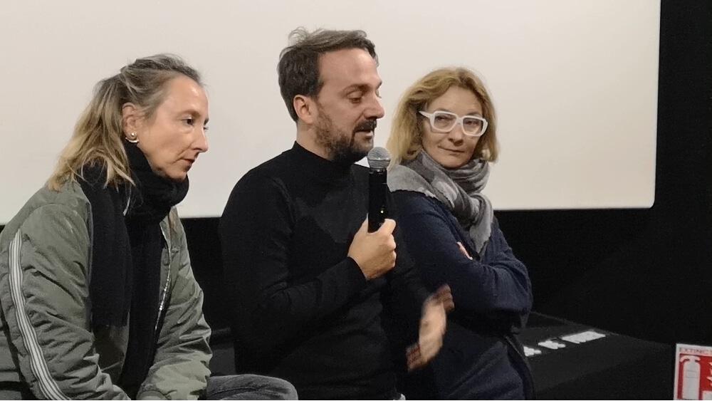 De gauche à droite : Audrey Lamy, Louis-Julien Petit et Corinne Masiero. © Joël Kermabon - Place Gre'net