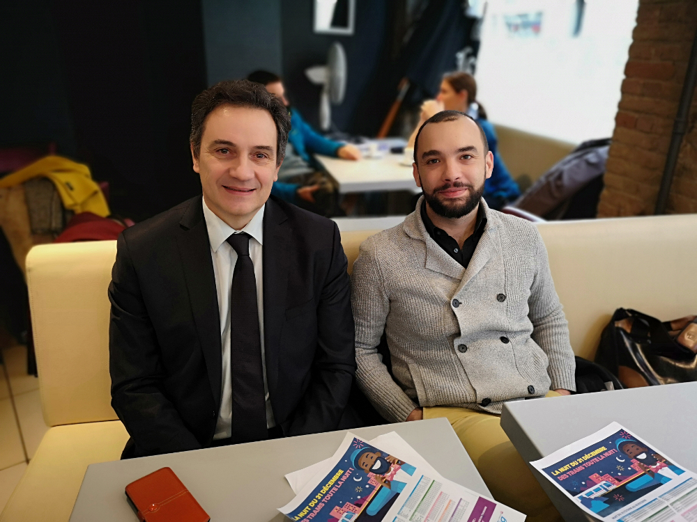 Philippe Chervy, directeur général de la Semitag et Yann Mongaburu, président du Smmag . © Joël Kermabon - Place Gre'net