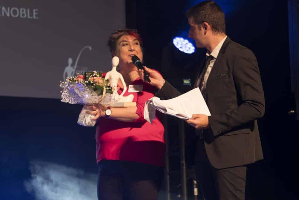 Claire Hatem, l'une des Iséroises lauréates des Trophées. Cathy Simon n'a pu, pour sa part, être présente à la cérémonie © Les Femmes de l'économie
