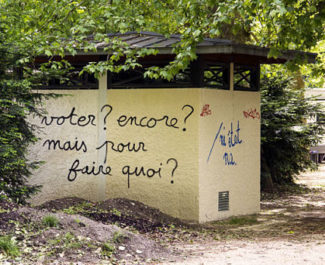 UNE Tag, politique, vote, parc Paul Mistral, Grenoble. © Chloé Ponset - Place Gre'net