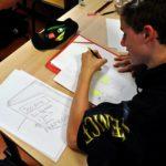 Des élèves de Première et de Terminale s'essayent au dessin de presse dans la région grenobloise. © Lycée Vaucanson