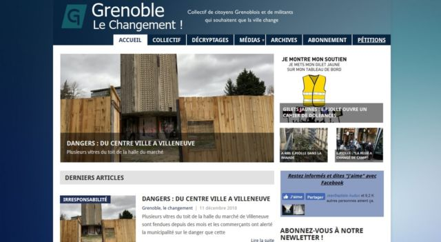 Un même technicien pour la mise en place du site Le Vélo qui marche et celui de Grenoble le changement.