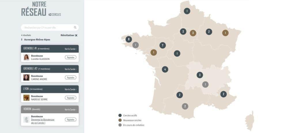 En moins de trois mois, le réseau Bouge ta boîte Grenoble compte presque autant de membres que le réseau lyonnais en deux ans © Capture d'écran Bouge ta boite