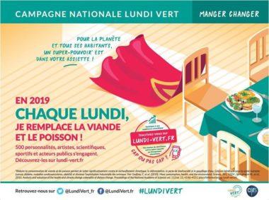 L'affiche de la campagne Lundi vert qui sera affichée dans le métro parisien à partir du 10 janvier. © Lundi Vert