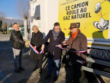 L'inauguration des nouveaux véhicules et de la station d'avitaillement ce mardi 15 janvier 2019. © Joël Kermabon - Place Gre'net