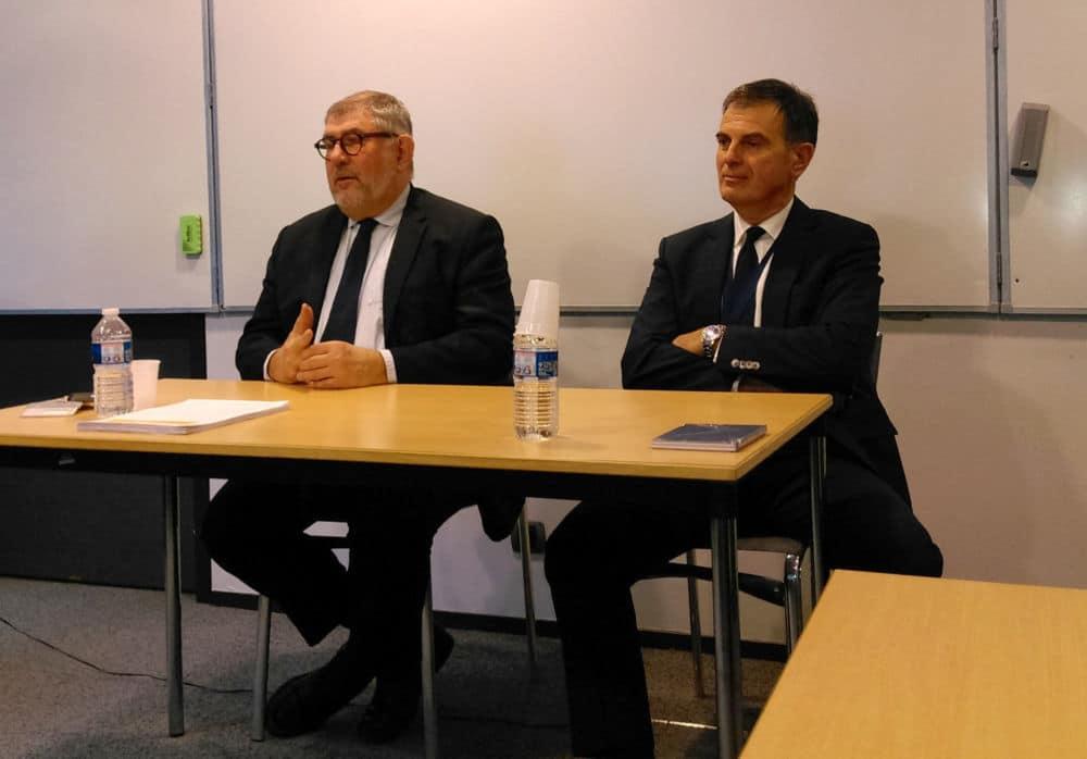 De gauche à droite Jean-François Beynel et Jacques Dallest, respectivement président et procureur général de la Cour d'appel de Grenoble © Florent Mathieu - Place Gre'net
