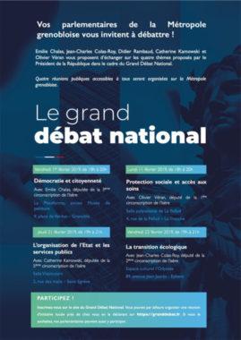 L'invitation aux 4 réunions organisée dans le cadre du Grand débat bational - DR