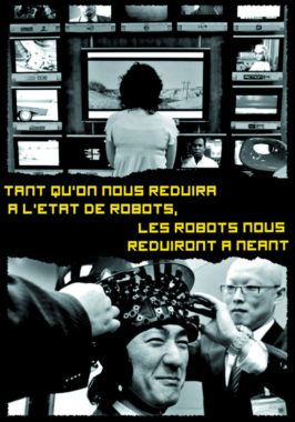 Carte postale contre la robotisation. © PMO