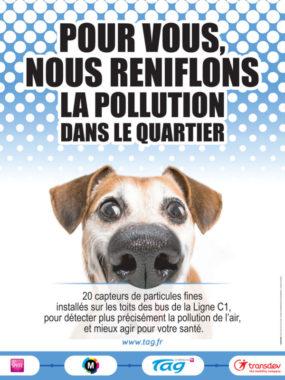 L'affiche pour communiquer sur les « renifleur de pollution ». © Média conseil Presse