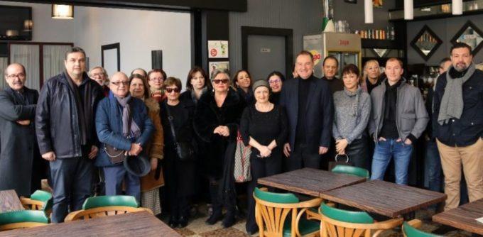 Quelques-uns des participants à la galette des rois. © Grenoble innove