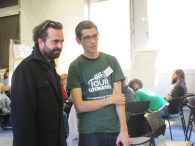 Jérôme Dutroncy et Grégory L'Azou, lors du forum citoyen sur le Plan Climat organisé par Alternatiba Grenoble, samedi 19 janvier 2019 © Séverine Cattiaux - Place Gre'net