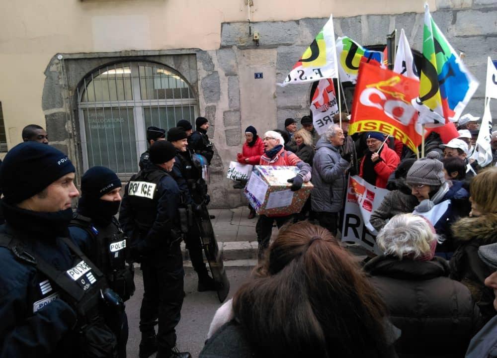 Manifestation des retraités Grenoble 31 janvier 2018 © Florent Mathieu - Place Gre'net